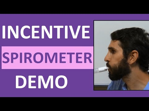 Incentive Spirometry (Spirometer) Demonstration Instruction | Incentive Spirometer Procedure