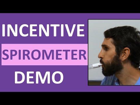 Incentive Spirometry (Spirometer) Demonstration Instruction | Incentive Spirometer Procedure