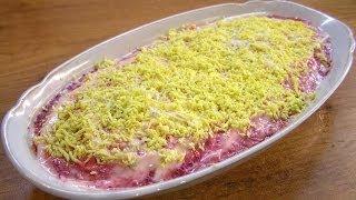 Сельдь под шубой / Dressed herring ♡ English subtitles(Приготовление вкусного и очень популярного салата