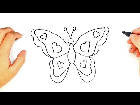 how to draw a butterfly drawing simple