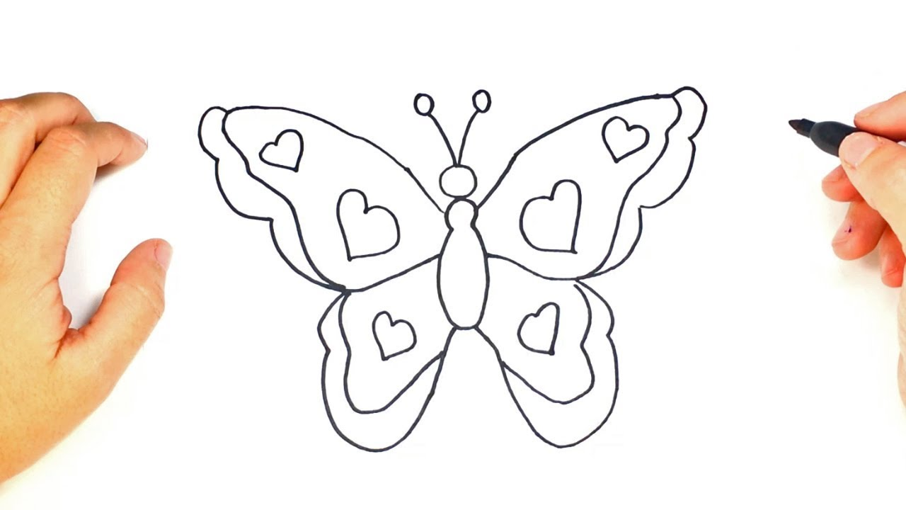 How to draw a butterfly for kids butterfly easy draw tutorial