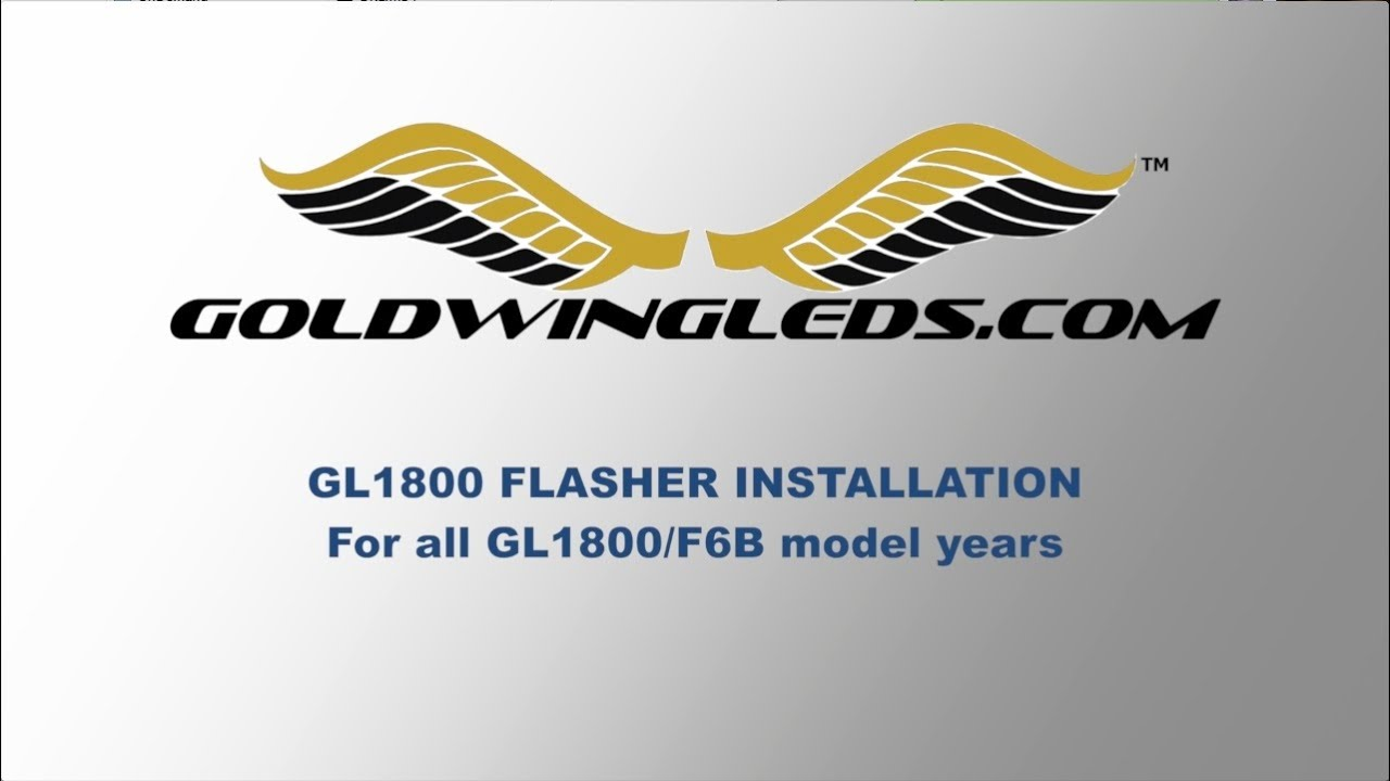 Install A New Flasher On Honda Gl1800 Goldwing Youtube 1800 Trike Trailer Wiring Diagram