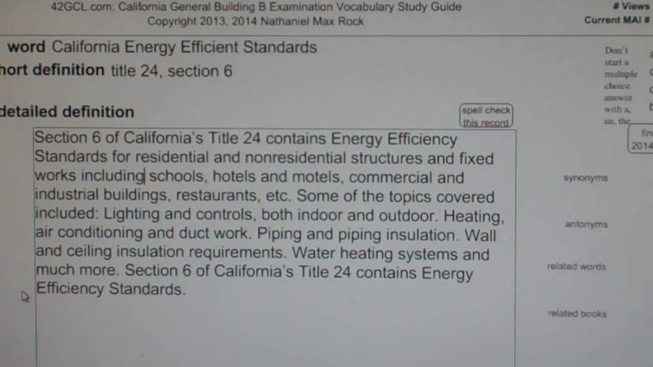 California Energy Efficient Standards