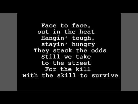 Survivor - Eye of The Tiger Original Lyrics [HD]