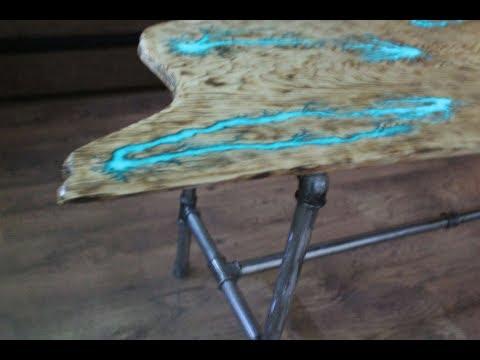 СТОЛ МОЛНИЯ.(Часть 2 - ножки) Как сделать ножки для стола из труб.