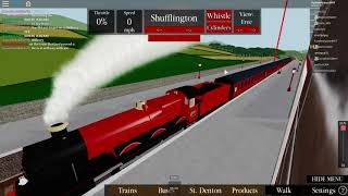 Roblox Steam Age Ep 1 (Hogwart express around the map with Friends!)