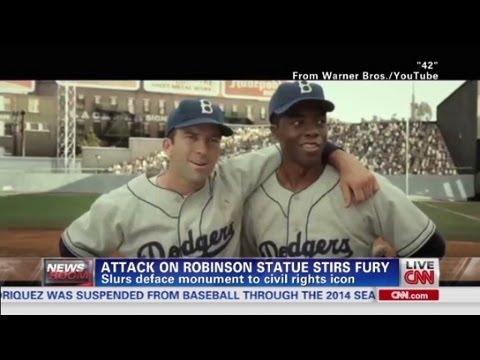Attack on Robinson statue stirs fury