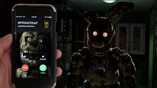 CALLING SPRINGTRAP ON FACETIME AT 3AM | SPRINGTRAP CHASED ME AT 3AM