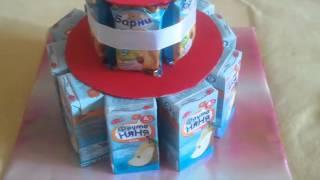 торт из барни и сока мастер класс(мастер-класс торт из барни и сока пошаговое фото мк торт из сока и мишек барни в детский сад., 2015-07-11T20:44:41.000Z)