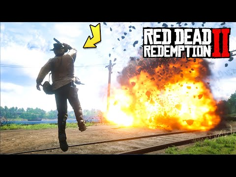 Arthur Morgan Using EXTREMELY Explosive Ammo