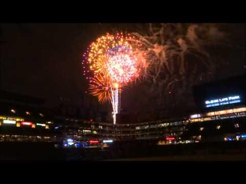 Fireworks finale at Globe Life Park in Arlington on 5/29/2015