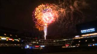 Fireworks finale at Globe Life Park in Arlington on 5/29/2015