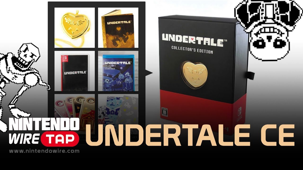 undertale nintendo switch collectors edition unboxing