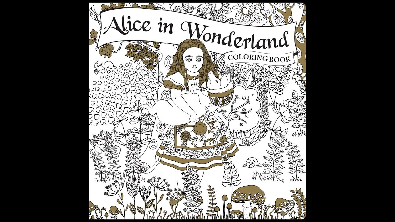 Flip Through Alice In Wonderland Coloring Book By Piccadilly