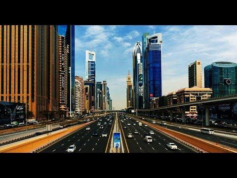 Dubai Sheikh Zayed Road Jebel Ali Industrial Area To International Airport Hd Youtube