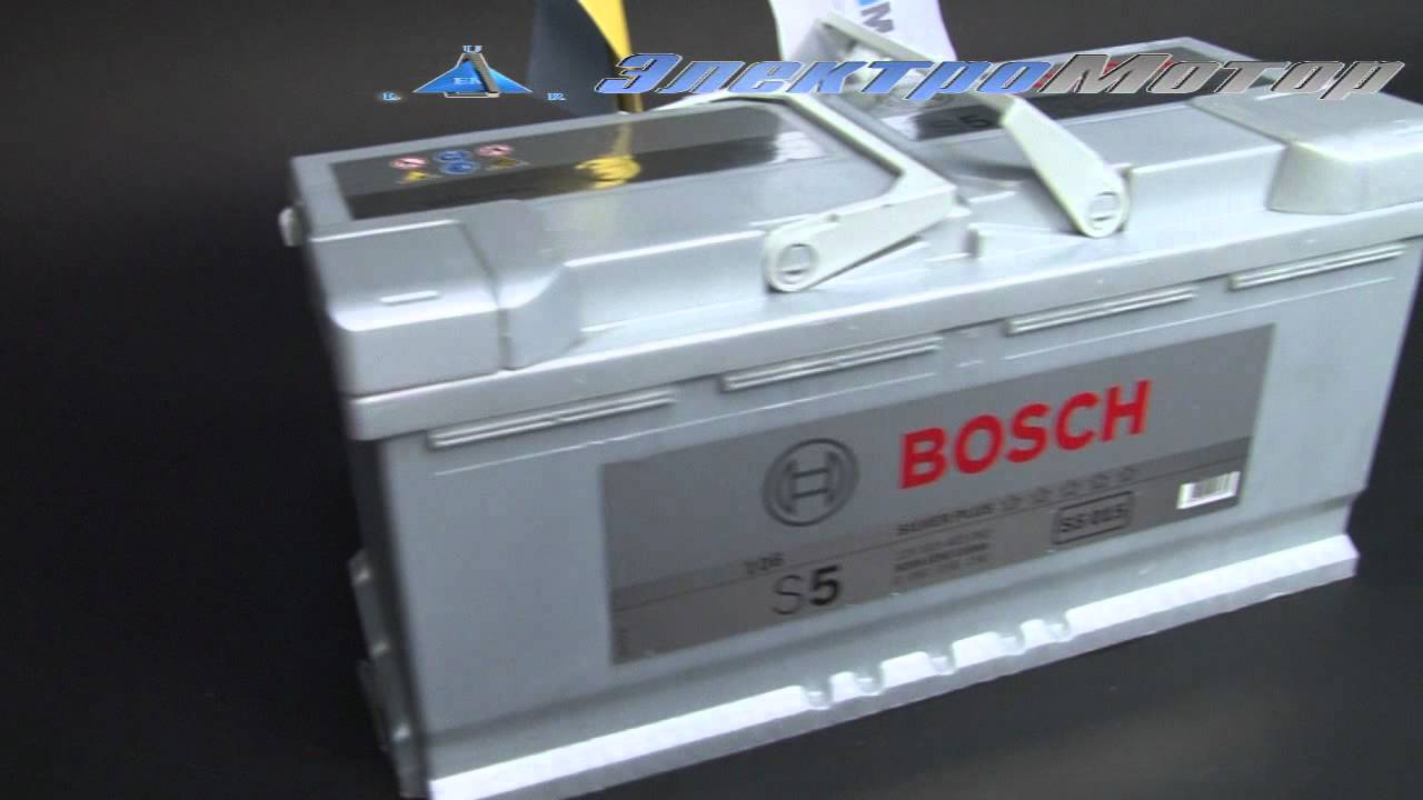Аккумулятор Bosch S5 Silver Plus 110ah - YouTube