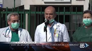 10 Aprile 2020   Francavilla Fontana Br   I doni del senatore Vitali per il reparto di medicina del