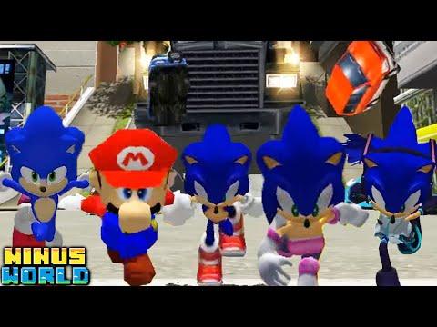 5 YOUTUBERS Sonic Adventure 2 CHALLENGE RACE! |