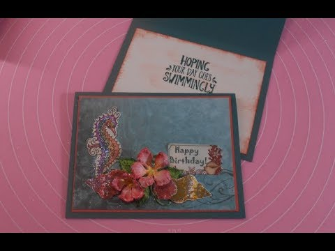 Stampin' Up! meets Heartfelt Creations - Under the Sea Birthday card