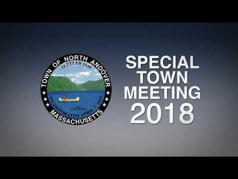 North Andover Special Town Meeting - Tuesday, January 30, 2018