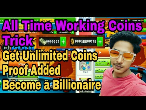 8 ball pool - All time working Unlimited Coins trick which makes u Billionaire in 8 ball pool