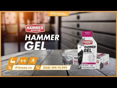 Gel uống bổ sung năng lượng Hammer gel vị phúc bồn tử hộp 24 gói