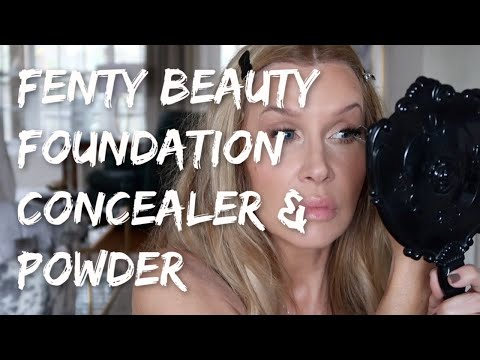 Fenty Beauty Foundation & Concealer Tutorial with Natasha Denona Camel Palette