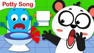 Potty Training Song | Baby Panda Goes to the Potty | Nursery Rhymes and Kids Songs by Little Angel