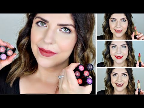 new-revlon-super-lustrous-matte-lipstick-|-review-&-lip-swatches-of-all-12-shades!