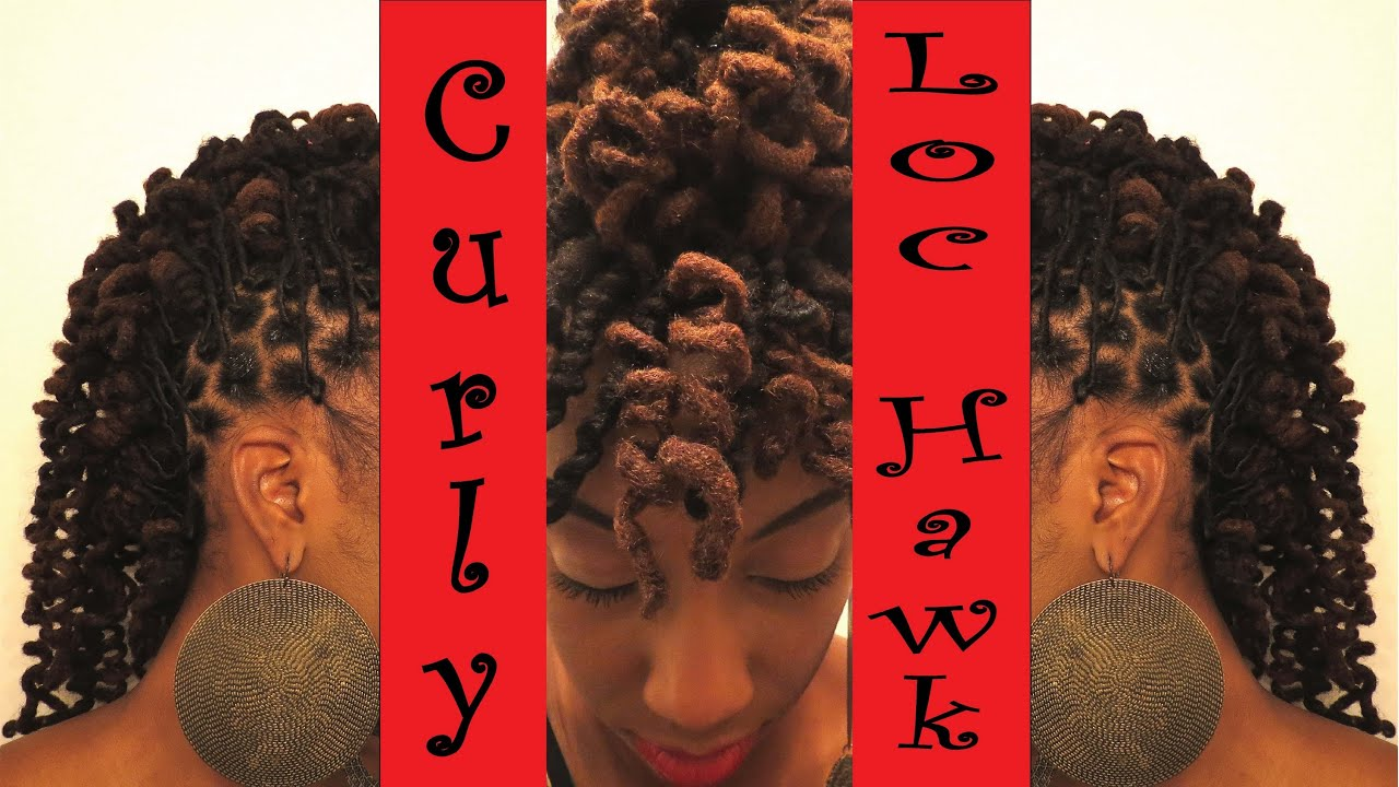 Curly Loc-Hawk: tutorial of mohawk from loc knots - YouTube