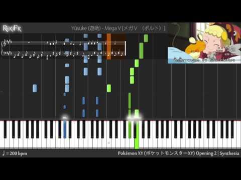 Pokémon XY Opening 2 - Mega V (Volt) (Synthesia)
