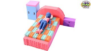 Learn Color With Kinetic Sand Lego Bricks Human Bed - Diy Activities For Kids With Colors Learning