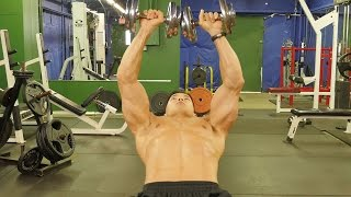 how to blow up your chest with tri sets