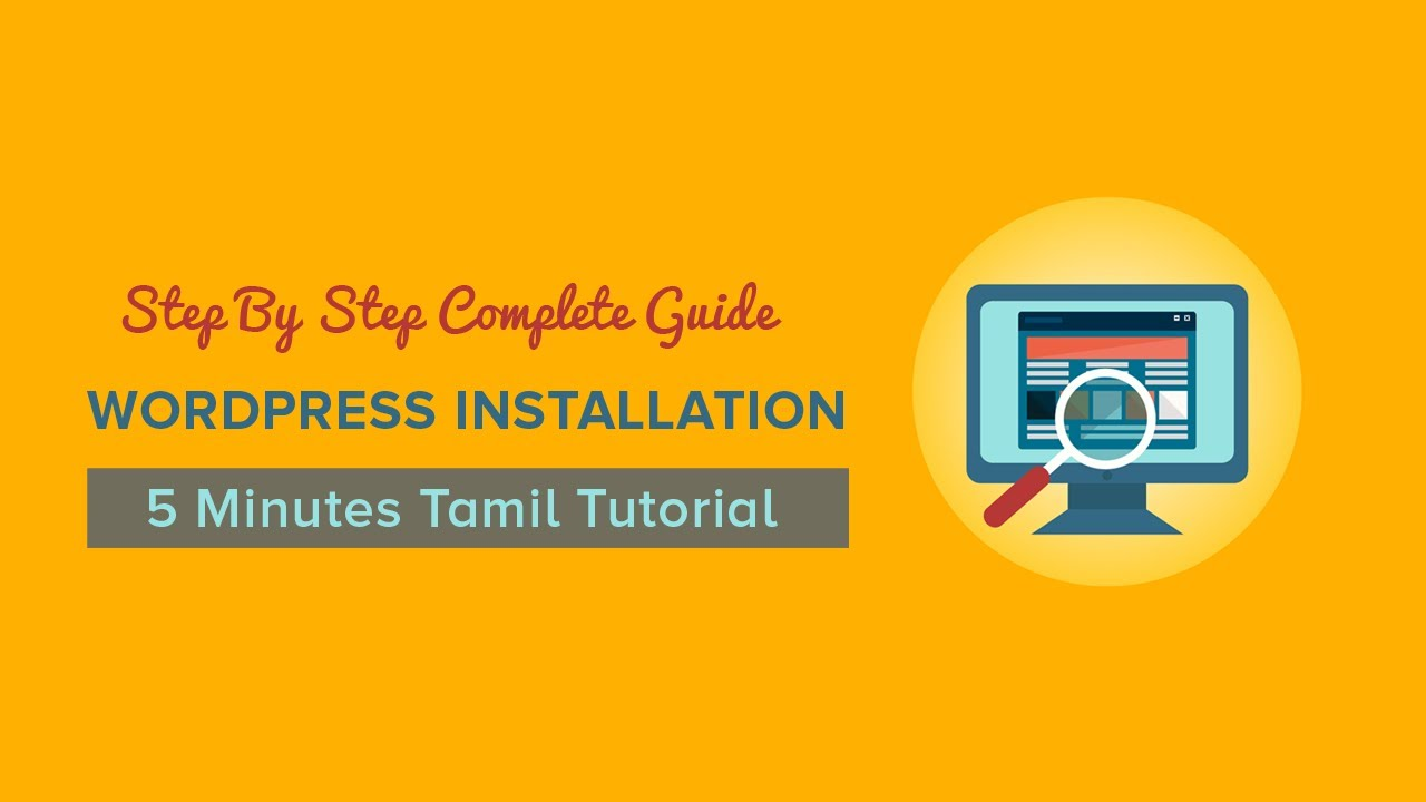 tamil wordpress installation tutorial step by step complete guide rh youtube com wordpress tutorial pdf complete guide wordpress tutorial pdf complete guide download