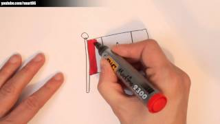 How to draw a canadian flag
