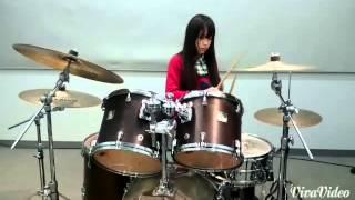 Nishikawa Reika of PARLISH rockin' the drums!