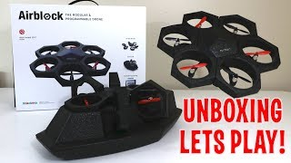UNBOXING & LETS PLAY! - AIRBLOCK - The Modular and Programmable Drone that turns into a HoverCraft!