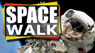 NASA TV :  ISS Expedition 50 U.S. Spacewalk # 40 Kimbrough and Pesquet