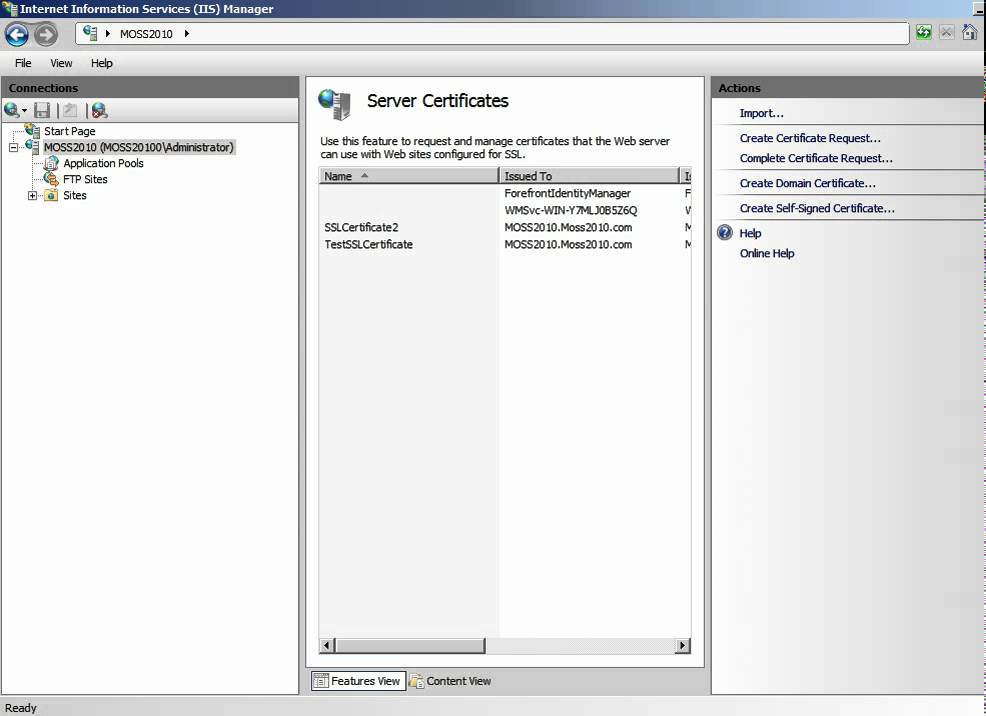 Implementing Self-Signed Certificate in SharePoint 2010 - YouTube