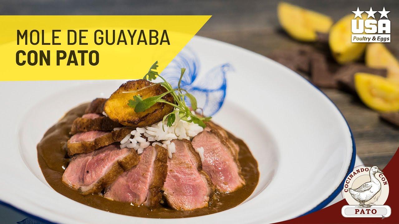 Mole de Guayaba con magret de Pato