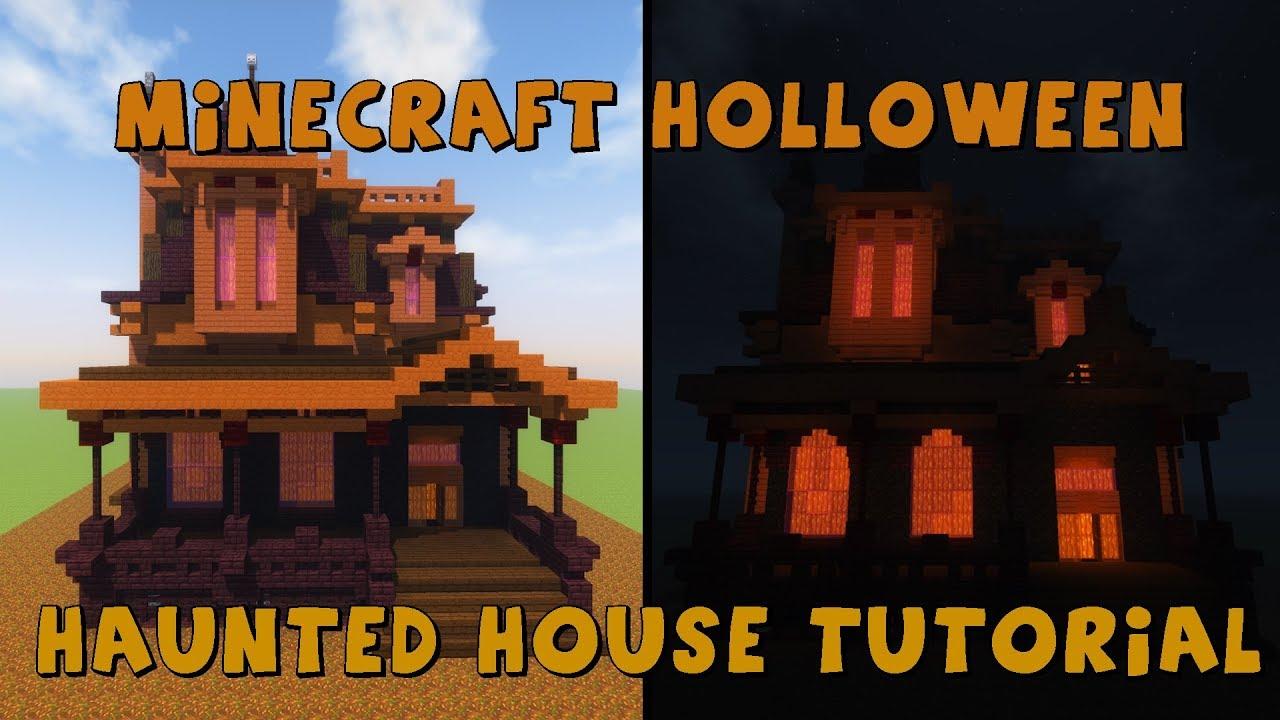 Halloween 2020 Youtube Mc Minecraft Halloween  Haunted House Tutorial/Lets build (+Download
