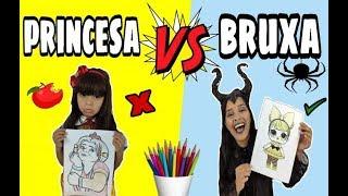 COLORINDO COM 3 CORES NA ESCOLA! Princesa vs Bruxa (3 MARKER CHALLENGE) BRANCA DE NEVE vs MALÉVOLA !