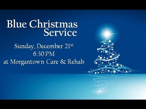 Blue Christmas Service Invitation - YouTube