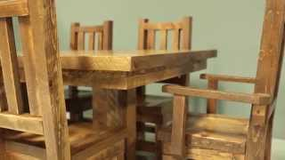 Barnwood Tables And Chairs - Viking Log Furniture