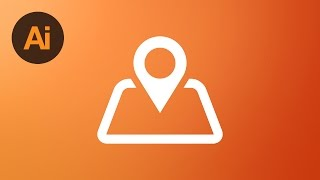 Learn How To Draw a Map Location Icon in Adobe Illustrator | Dansky