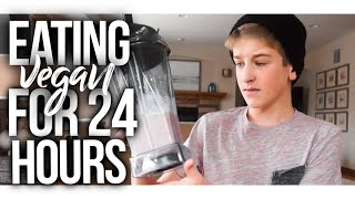 24 HOUR VEGAN CHALLENGE! eating vegan for a day