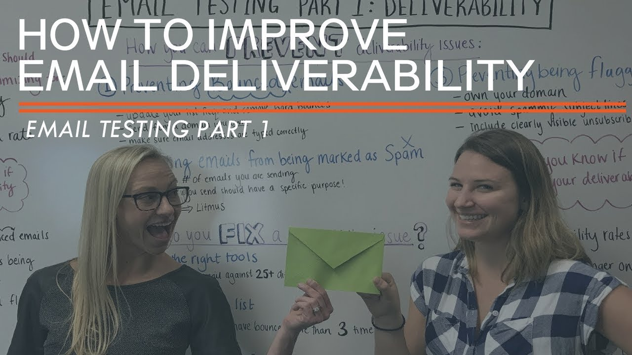 Testing your email marketing to improve your deliverability