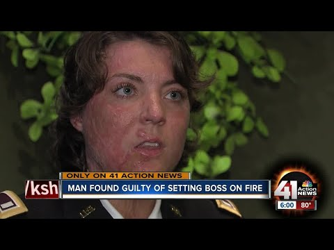 Ft. Leavenworth employee set on fire describes horrifying attack