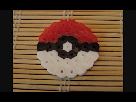 Diy Pyssla Hama Beads Mini Pokeball Youtube