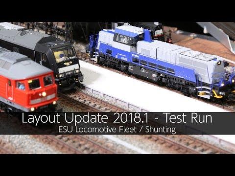 ESU Locomotive Fleet / Shunting Test Run - VLOG40